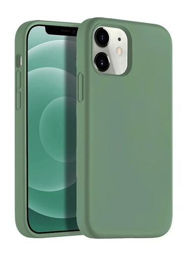 "Bludfire Apple Iphone 12 Pro 6.1"" Soft Touch Altı Kapalı Liquid Silikon Lansman Kılıf 1261 Haki"